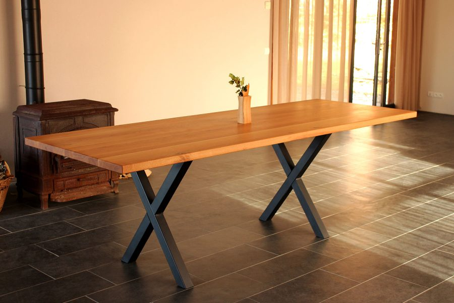Oak-dinner-table-Dining-Room- Designs - FabsFurniture