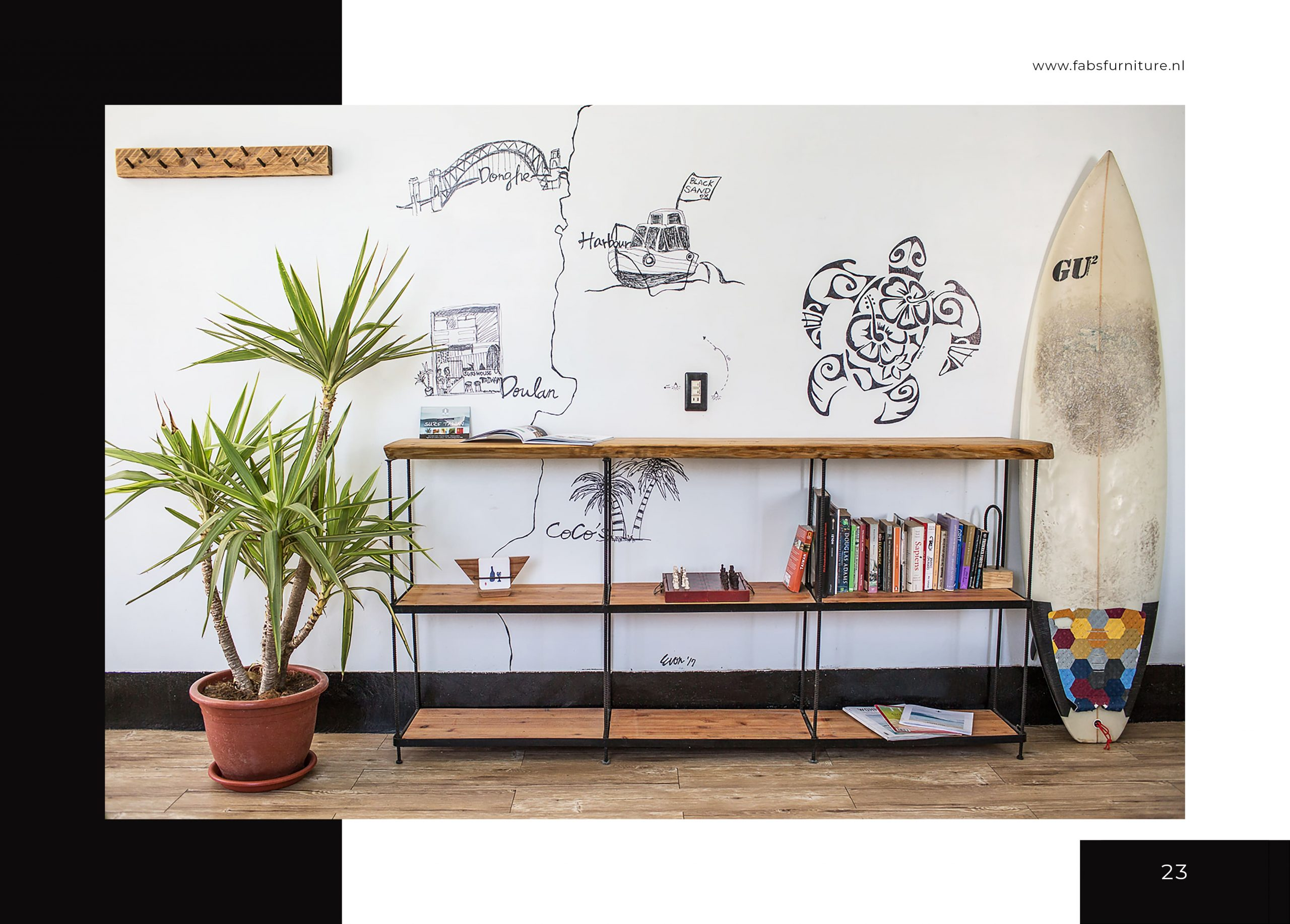 FabsFurniture Taiwan Portfolio - 2021 - wooden furniture - surf house Taiwan