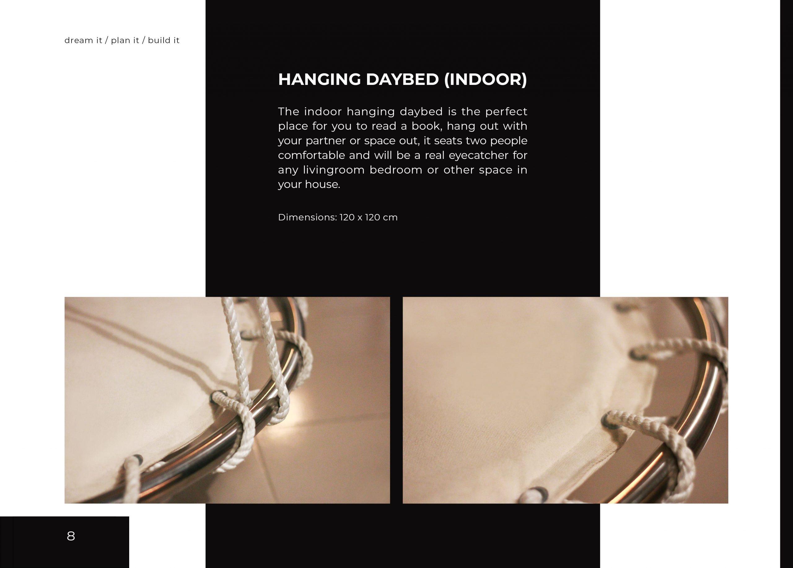 FabsFurniture Taiwan Portfolio - 2021 - hanging daybed - indoor