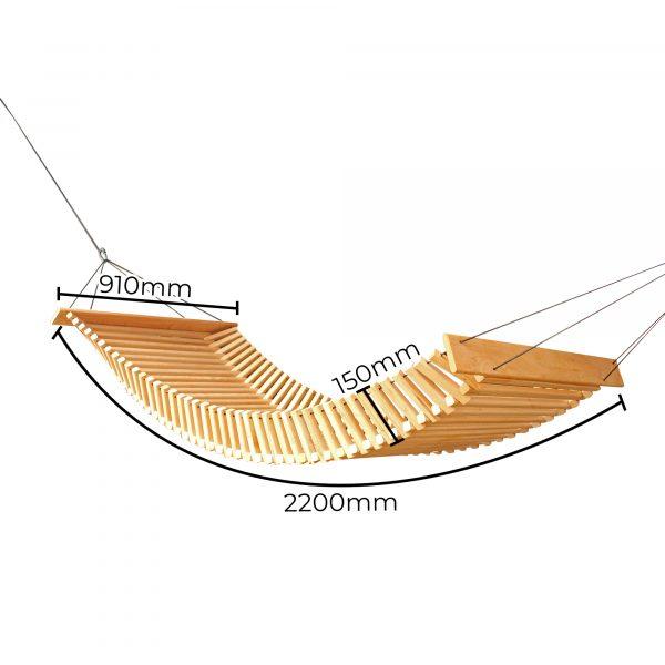 FabsFurniture - Hamac en bois - dimension du produit