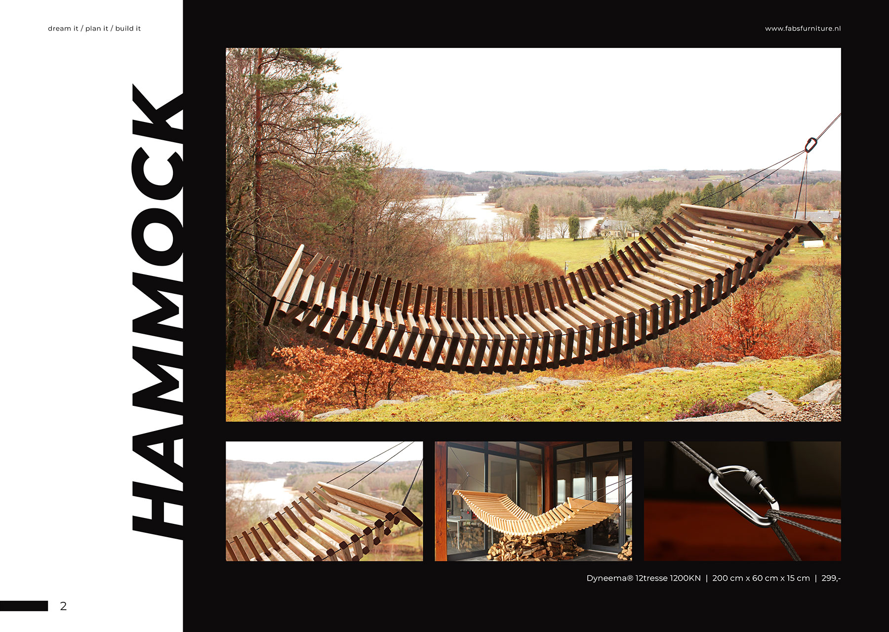FabsFurniture Europe Portfolio - 2021 - wooden hammock