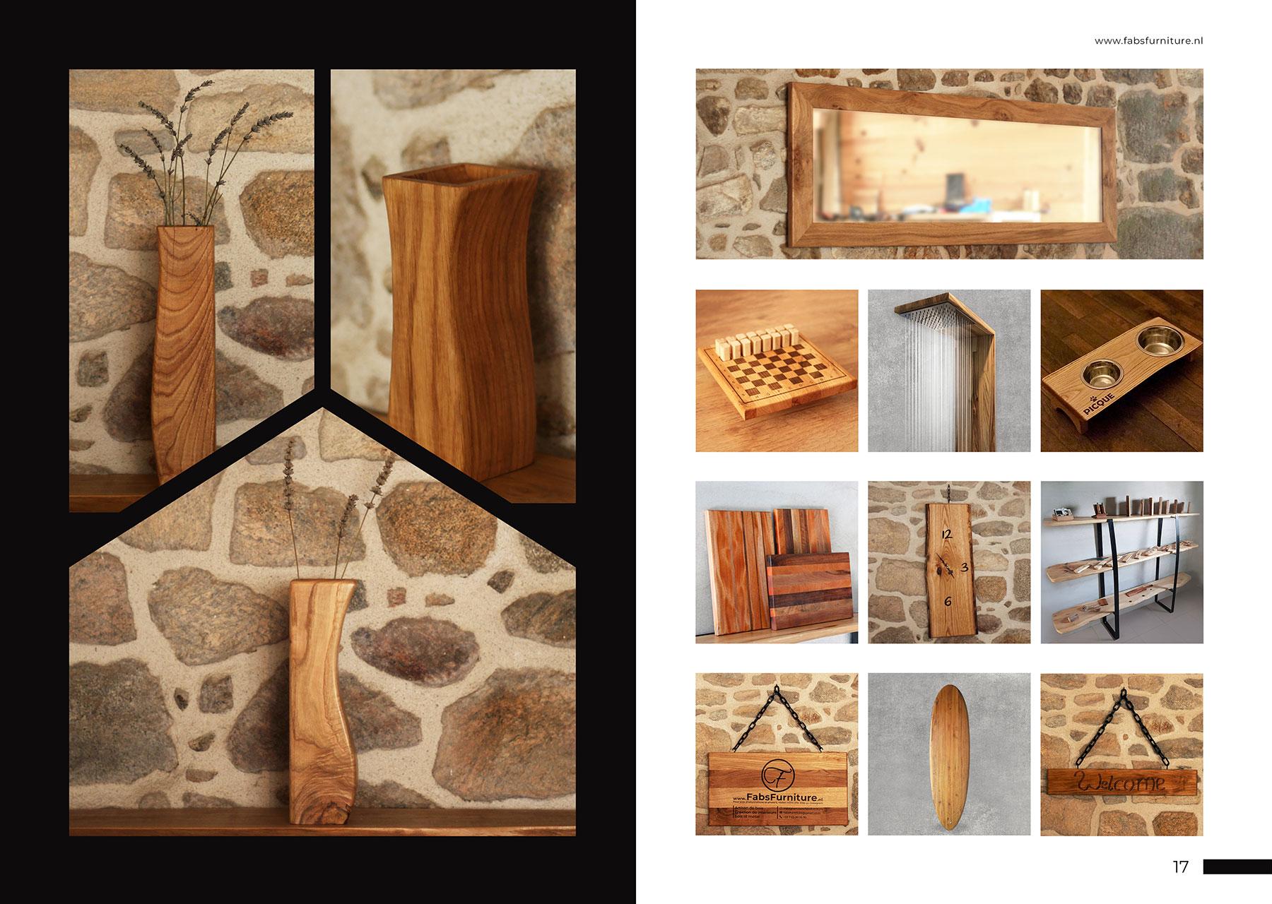 FabsFurniture Europe Portfolio - 2021 - wooden vase - shower head