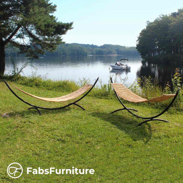 FabsFurniture - Hamac Bois - Hamac en Bois avec support -v2-by-the-lake-s