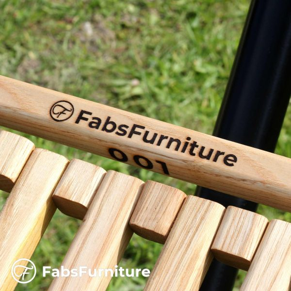 FabsFurniture - Hamac Bois - Hamac en Bois avec support-v2-logo-number-close-up-s
