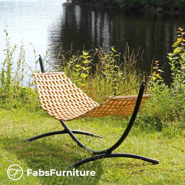 FabsFurniture - Hamac Bois - Hamac en Bois avec support-v2-with-stand