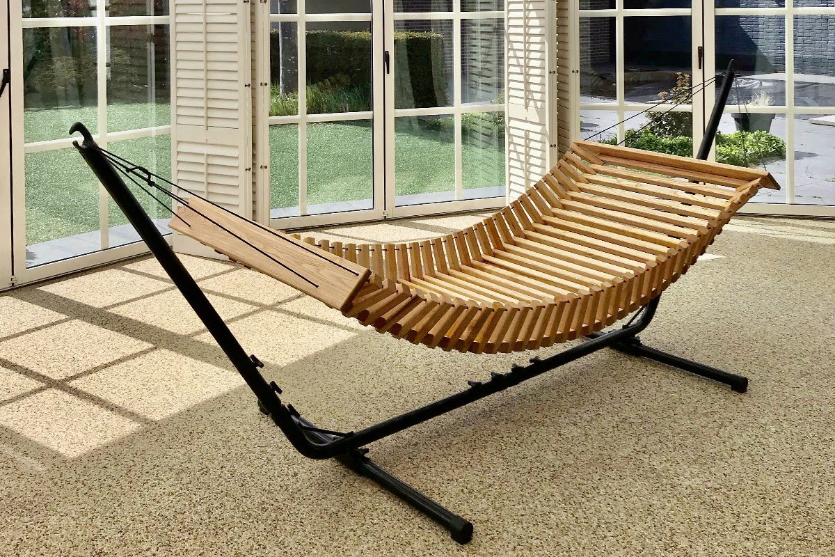 Hamac bois avec Stand - FabsFurniture-Wooden-Hammock-Eindhoven-patio